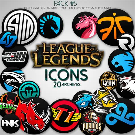 Icons 6 League Of Legends Teams By Aliceemad On