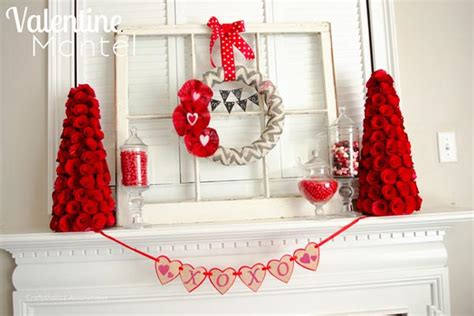 valentines day mantel easy valentine decor the crafting chicks