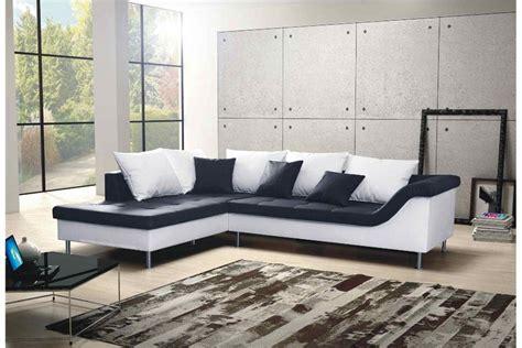 canapé noir et blanc but canapé d 39 angle design elvis convertible noir et blanc