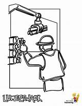 Coloring Construction Pages Lumberjack Worker Printable Welder Gritty Yescoloring Boys sketch template