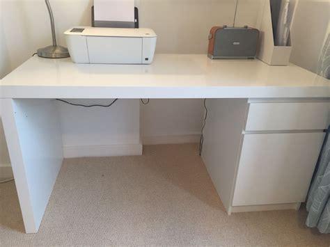 ikea office desk white ikea white malm desk excellent condition in finsbury