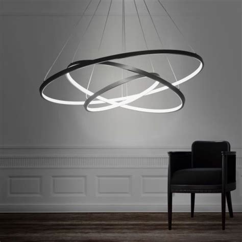 led light design contemporary magnificent modern design led 3rings chandelier lighting lights