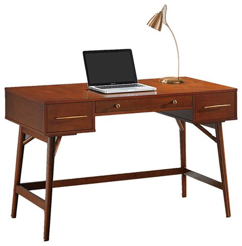 white writing desk with drawers home office laptop desk walnut white writing desk with 3