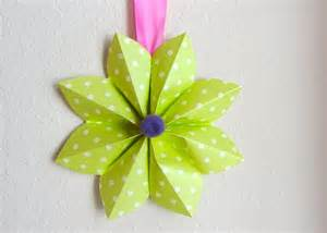simple baby shower decorations how to fold a origami paper flower decoration for a party