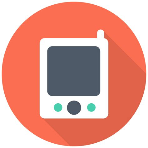 pager icon  flat multimedia iconset designbolts
