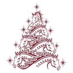 Cuttable Christmas Tree Design Horse