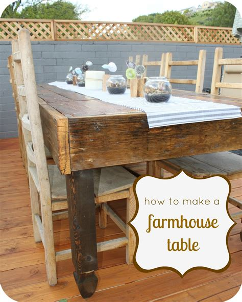 how to build a rustic table how to make a rustic farmhouse table