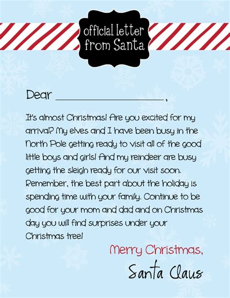 free printable letters from santa free letter to santa printable pretty my 67735