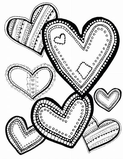 Coloring Pages Heart Valentine Laugh Designs Printable
