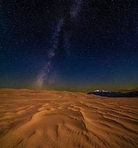 Great Sand Dunes At Night Photograph by Michael Flaherty