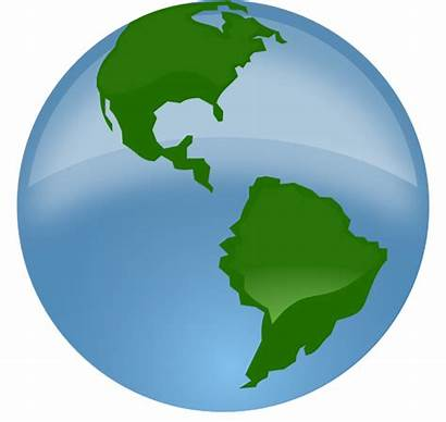 Globe Earth Clipart Animation Clker Clip Transparent