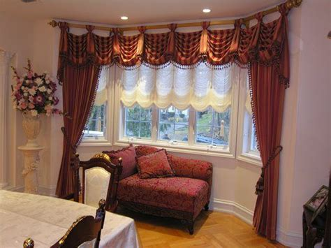 kingston valance with side panel curtains and austrian