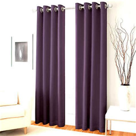 2 plum purple panel room darkening 99 blackout grommet