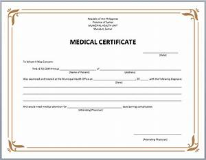 certificate templates free sample templates With fake medical certificate template download