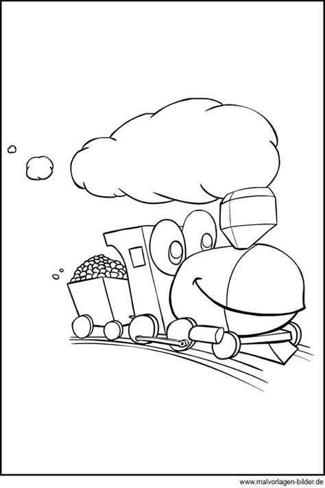lokomotive auf grosser fahrt ausmalbild