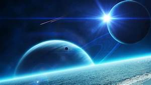 Blue Space Art Wallpapers - 1024x576 - 161971