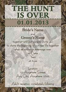diy the hunt is over wedding invitations the o39jays With free printable redneck wedding invitations