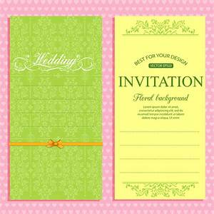 wedding invitation card template free vector in adobe With wedding invitation templates illustrator download free