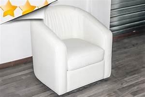 fauteuil en cuir blanc 28 images fauteuil cabriolet en With tapis de course pas cher avec cuir de vachette canapé
