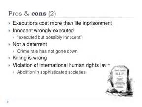 death penalty pros and cons research paper