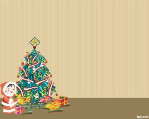 christmas powerpoint template  blue background