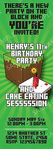 Printable Graduation Invitation Templates For Minecraft Party Invitations Invitations Online