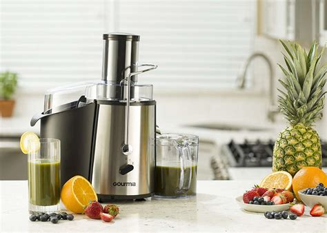 gourmia juice juicer centrifugal extractors extractor motor mouth fruit wide watts powerful speed