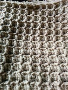 Block Stitch  Waffle Stitch  Susanking1957 Blanket Wip From