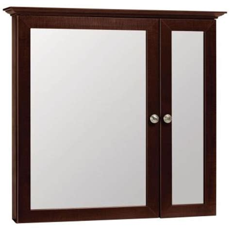 home depot medicine cabinet with mirror glacier bay 31 in x 29 in surface mount mirrored