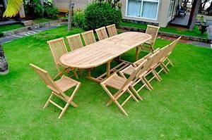 Salon De Jardin 12 Personnes : garang salon de jardin teck massif 12 personnes table ~ Dailycaller-alerts.com Idées de Décoration