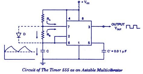 Timer Astable Multivibrator Electronic