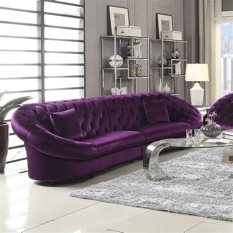 purple sectional sofa coaster romanus sectional sofa purple 511045 at