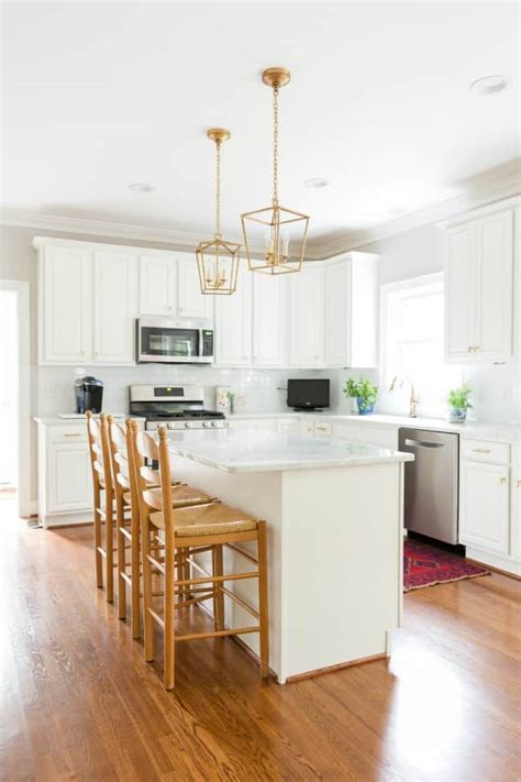 White Kitchen Gold Eye by Our White And Gold Kitchen Makeover Trevey Home