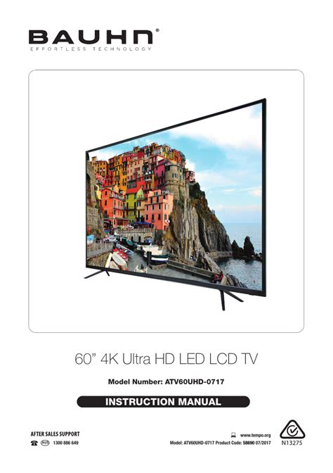 60 4K Ultra HD LED LCD TV Manualzz