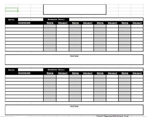 workout templates for personal trainers personal trainer free session template