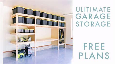 diy garage storage shelf workbench solution youtube