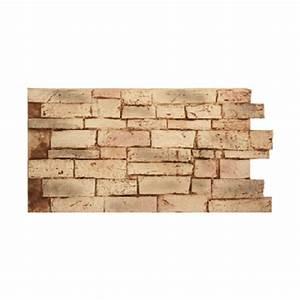 Panneaux Resine Imitation Pierre : panneau en imitation mur de pierre brun p le interlock plastruction ~ Melissatoandfro.com Idées de Décoration