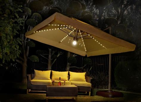 patio string light ideas large patio umbrella with lights roselawnlutheran