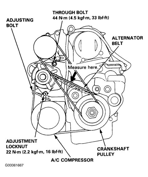 Serpentine Belt Diagram 95 Acura Integra by 1997 Honda Civic Serpentine Belt Routing And Timing Belt