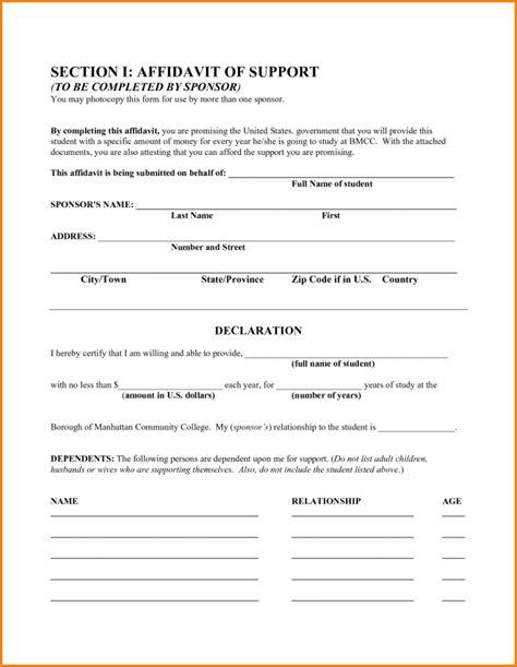 free affidavit template 33 printable affidavit form template exles thogati