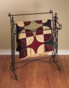 French Country Tuscan Brown Wrought Iron Quilt Blanket