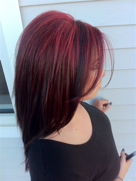 Pretty Bright Red Hair Highlights Used Paul Mitchell