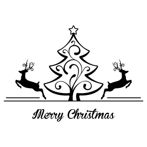 This listing is for an instant download. Merry Christmas Tree Deer Graphics SVG Dxf EPS Png Cdr Ai ...