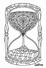 Hourglass Colouring Coloring App Therapy Adult Colortherapy sketch template