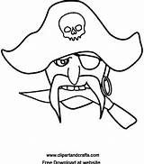 Pirate Coloring Face Mask Printable Pages Sheet Halloween Decades Masks Clipartandcrafts Pirates Sheets Rosary sketch template