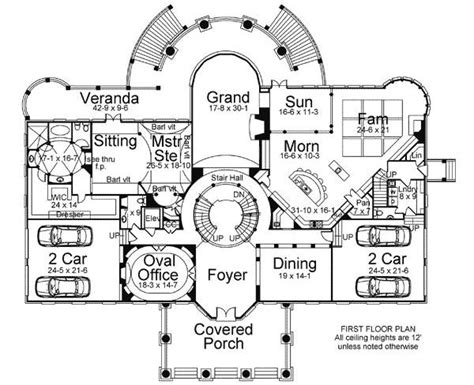 plan jl statement circular staircase   luxury house plans luxury floor plans