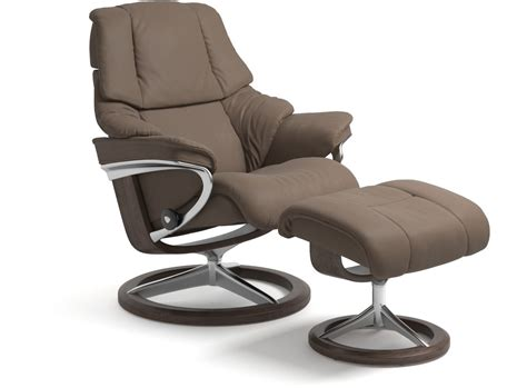 stressless 174 reno leather recliner signature base