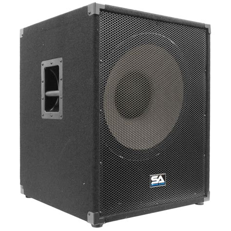 18 inch speaker cabinet design amazon com seismic audio enforcer ii pw powered pa 18