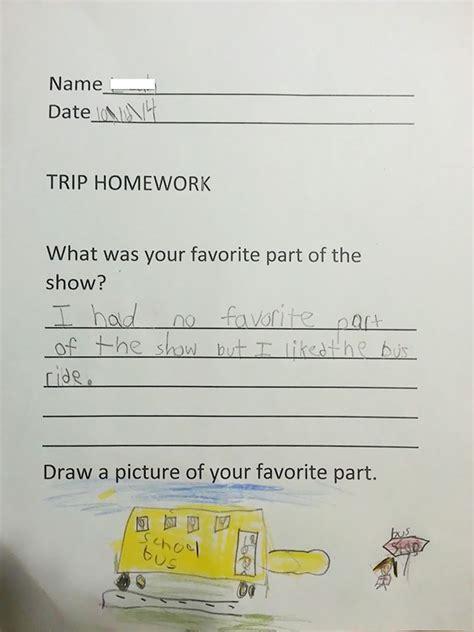 funny answers  homework thatll