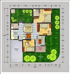 gambar denah rumah minimalis modern type  denah rumah